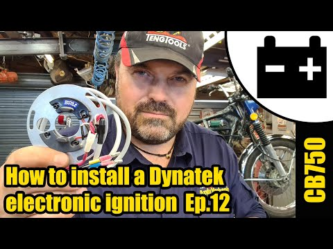 CB750 -  How to install Dynatek electronic ignition & set ignition timing #1479