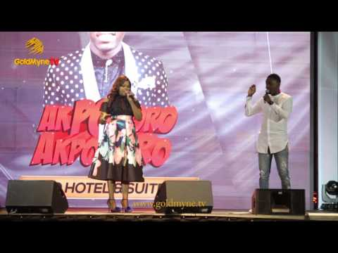 FUNKE AKINDELE & AY COMEDIAN CRACK UP FANS AT APKORORO VS APKORORO