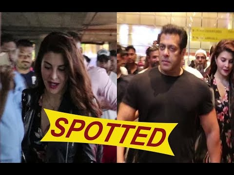 Salman Khan & Jacqueline Fernandez Spotted At Airport