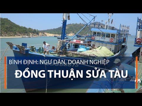 Bình Định: Ngư dân, doanh nghiệp đồng thuận sửa tàu | VTC1 - Thời lượng: 59 giây.