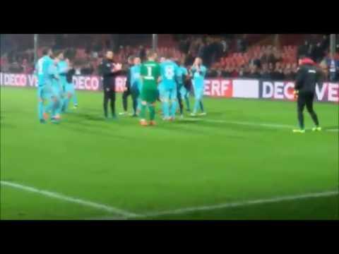 Feest na overwinning op Go Ahead Eagles