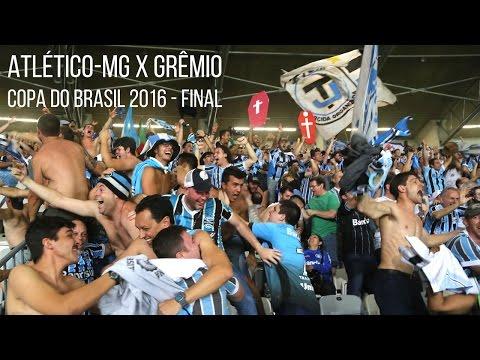 Atlético-MG 1 x 3 Grêmio - Copa do Brasil 2016 - Comemoraçao dos gols - Geral do Grêmio - Grêmio