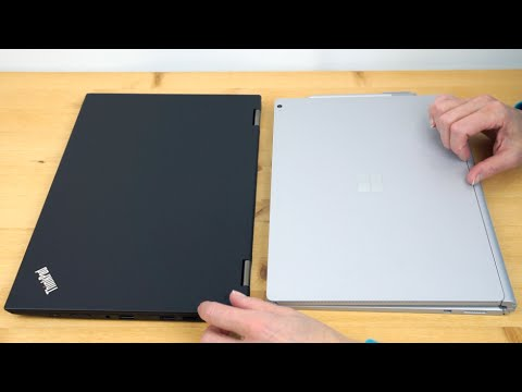 , title : 'Lenovo ThinkPad X1 Yoga vs  Microsoft Surface Book Comparison Smackdown'