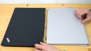 Lenovo ThinkPad X1 Yoga vs  Microsoft Surface Book Comparison Smackdown