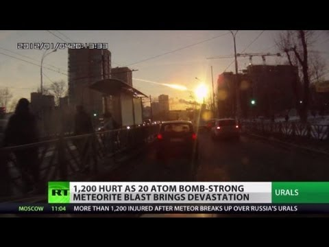 Russia's - 20 Hiroshimas - that's the National Space Agency's estimate of the explosive power of the meteorite which shattered over Russia's Urals. It left more than 12...