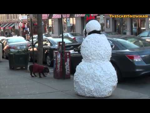 Funny Moving Snowman New Years Prank Scare   Season 2 Episode 4