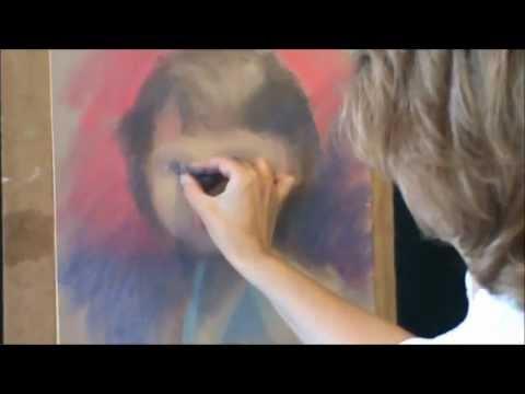 Как нарисовать портрет пастелью(ч.1).wmv (видео)