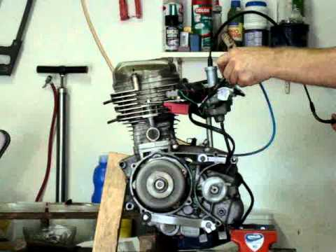motor CG 125 na bancada