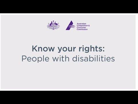 Know your rights: People with a disability