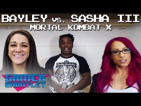 Bayley vs. Sasha Banks III (Mortal Kombat X Makeup Punishment) — Gamer Gauntlet