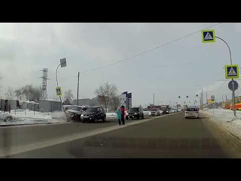 Авария в Барнауле на пешеходном переходе