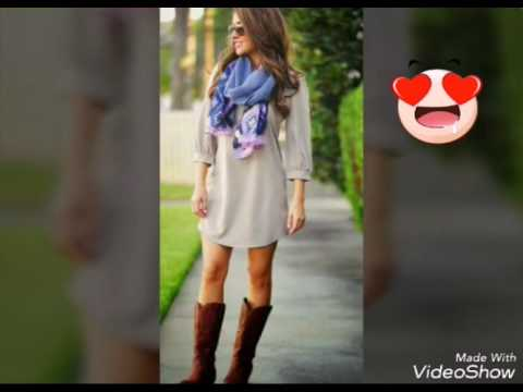 botas vaqueras outfits de moda 2017 oto209o invierno