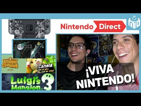 REACTION Nintendo Switch: Final Fantasy VII - Animal Crossing - Luigi's Mansion 3 | N Deluxe (видео)