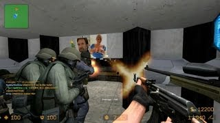 Counter Strike Source Zombie Escape mod online gameplay on ze_Moon_Base_V1 map