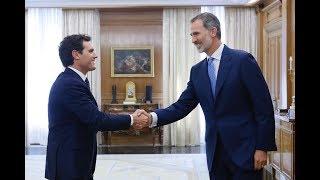 S.M. el Rey recibió en audiencia al presidente de Ciudadanos, Albert Rivera