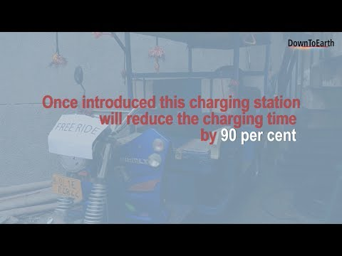 India's first quick charging station for electric vehicles