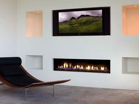 Fireplaces With Walls
