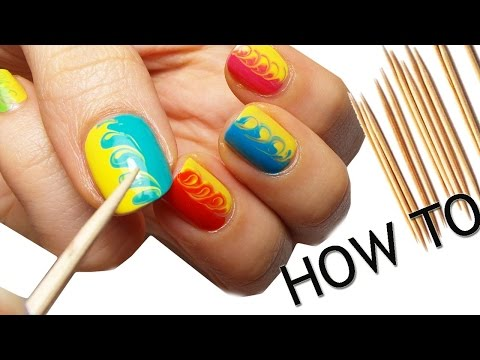 nail art - facile e colorata con stuzzicadenti!