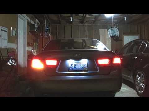 LED tail lights Hyundai Sonata LX 1080p