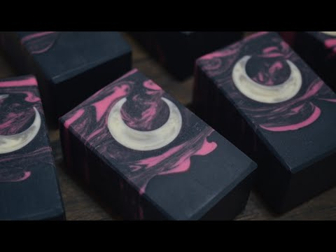 Bella Luna Cold Process Soap Making 🌙 New Moon Embeds