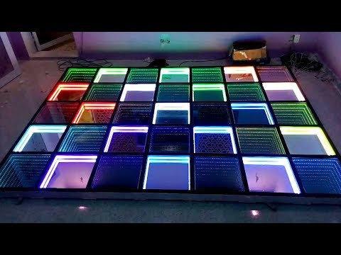 How to Make a Modern LED Infinity Illusion Mirror - Simple Life Hacks 2017-[Piece of Paper]