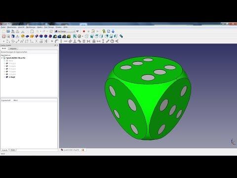 FreeCAD Lesson 03 - Casino Dice