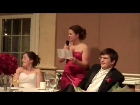 Funniest Maid of Honor Speech - Song EVER!!!! Soul Sister