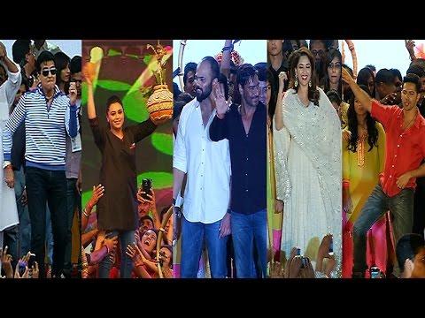 Ajay Devgan, Rohit Shetty,Rani,Madhuri At Worli Dahi Handi