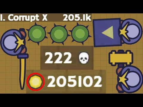 Moomoo.io - Golden Hammer, Golden Katana - 205K Highscore, 222 Kills (Samurai Armour Tribute)