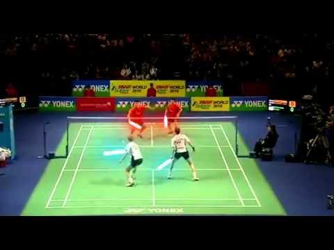Jedis playing badminton