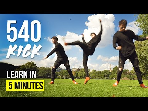 HOW TO 540 KICK! | Tricking Tutorial (видео)