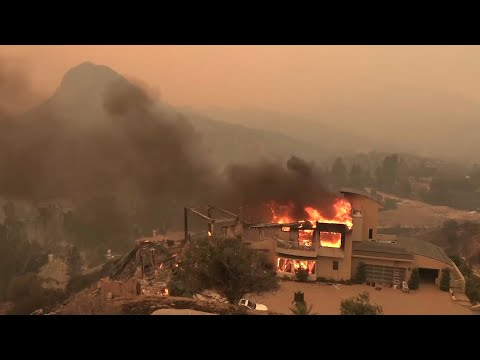 Aerial views of Southern California wildfires