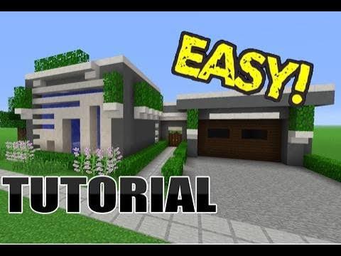 Minecraft Modern House Tutorial(PART 1)