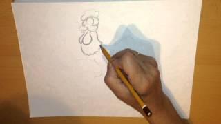 Как нарисовать, ПЕТУХ, Рисунки карандашом, how to draw animals, Сhicken, Art