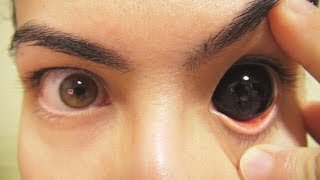 Video How to: Insert And Remove Black Sclera Contact Lenses (Fxeyes) MP3, 3GP, MP4, WEBM, AVI, FLV Juni 2017