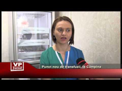 Punct nou de transfuzii, la Câmpina