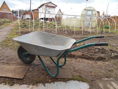 Как переделать садовую тачку в строительную