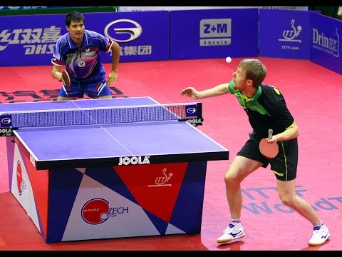 open - Review all the highlights from the Patrick Baum Vs Alexey Smirnov Men's Singles Semifinal from the ITTF Czech Open 2014 Subscribe here for more official Table Tennis highlights: http://bit.ly/itt...