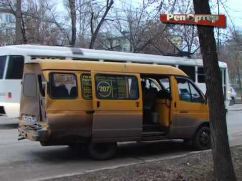 В Самаре маршрутка столкнулась с трамваем (видео)