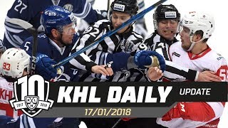 Daily KHL Update - January 18th, 2018 (English)