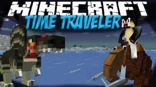 Time Machine Mod: Minecraft Time Traveler Mod Showcase! 4 New Dimensions!!