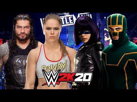 WWE 2K20 | ROMAN REIGNS & RONDA ROUSEY vs KICK-ASS