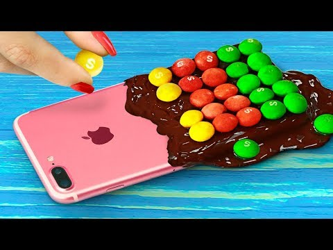 7 DIY Edible Phone Cases / Edible Pranks! (видео)