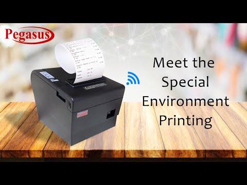 Pegasus PR8020 Wireless Thermal Receipt Printer