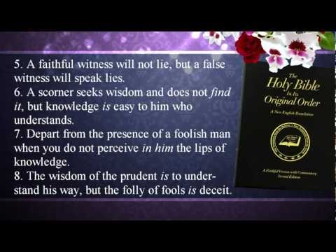 churchathome - Fred Coulter narrates the book of Proverbs from the Faithful Version translation. http://www.restoringtheoriginalbible.com/ http://www.churchathome.org/prove...