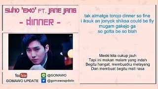 Easy Lyric SUHO 'EXO' feat. JANE JANG - DINNER by GOMAWO [Indo Sub]