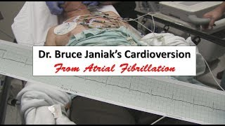 Dr. Bruce Janiak, a 74 year old full-time emergency medicine physician, allows a video of his cardioversion from atrial fibrillation in order to demonstrate both the ease and safety of this procedure.  Dr. Janiak holds the distinction of being the first ever emergency medicine residency graduate in the world.