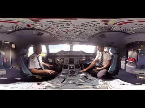 فيديو 360 درجة على متن A380