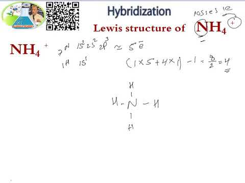 LEWIS STRUCTURE - HYBRIDIZATION  NH4 +