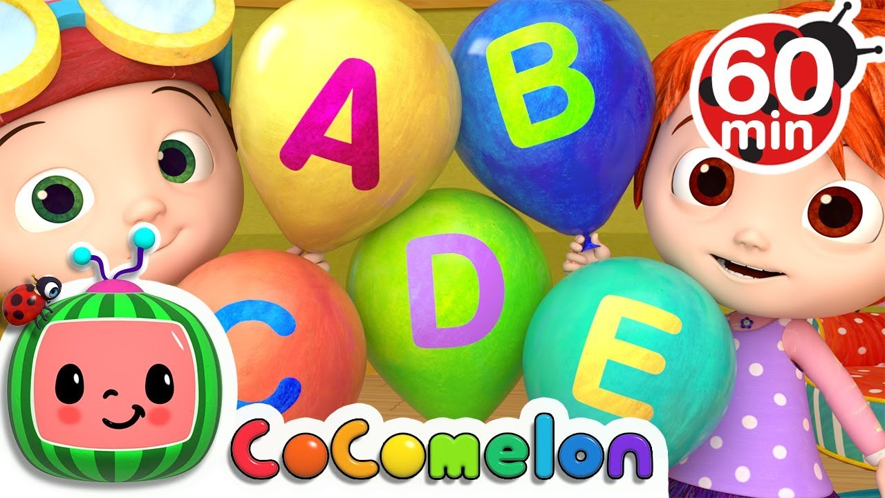 ABC Song with Balloons | +More Nursery Rhymes & Kids Songs - CoCoMelon - YouTube